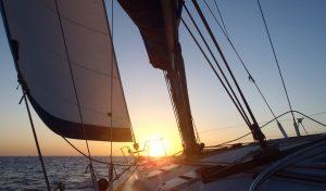 close up photo inside barca's boat on sunset