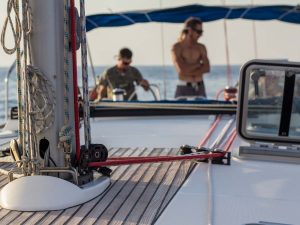 close up photo inside barca's boat